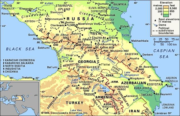 The Caucasus Region - GEOPOLITICA.info