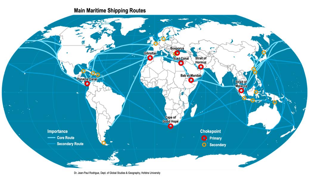 La geopolitica delle rotte marittime - Geopolitica.info