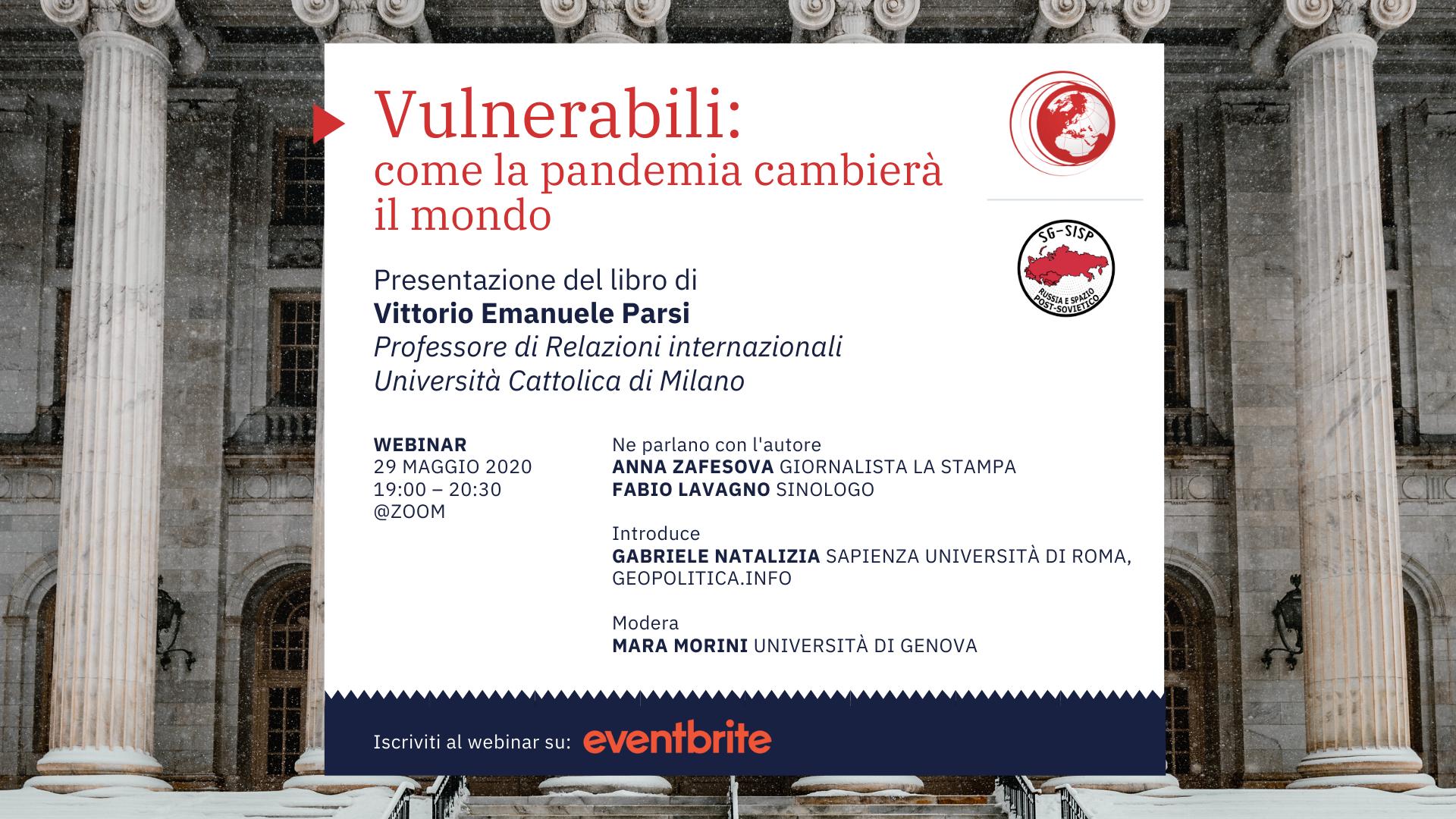 """Webinar """"Vulnerabili: come la pandemia cambierà il mondo"""" – 29/5/2020, h. 19 - Geopolitica.info"""