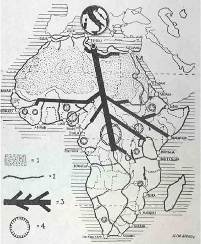 ramificazione italiana in Africa-geopolitica